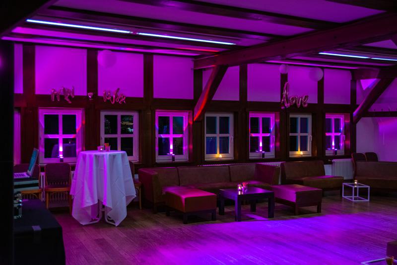 DJ Bad Belzig Hochzeit & Event Christian Libor - Springbachmühle - Ambiente-Beleuchtung